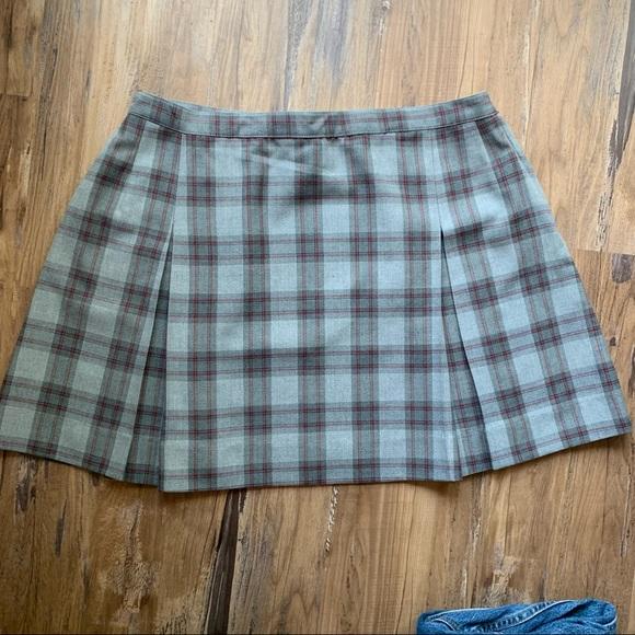 Vintage School Girl Plaid Mini Skirt Size XXL